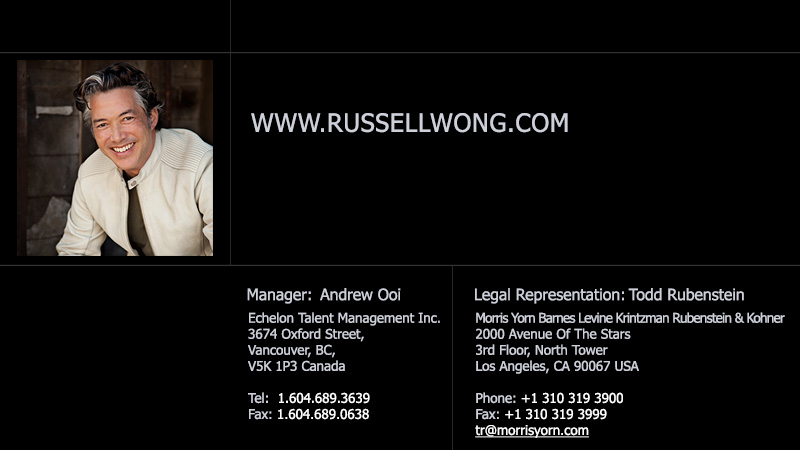 Russell Wong - Legal Representation